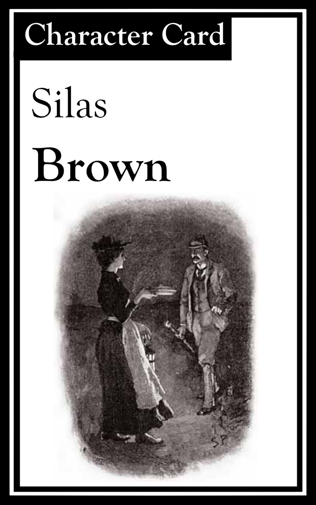"The title is ""Silas Brown.""  There is an image of a man and a woman."