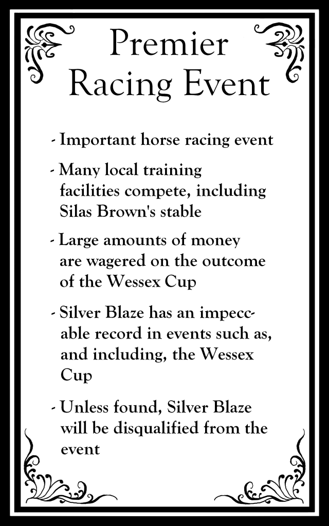 "The top says ""Premier Racing Event"" followed by bullet points about the event."