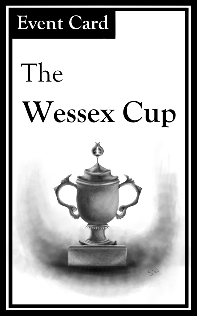 "The title is ""The Wessex Cup.""  There is an image of a trophy."